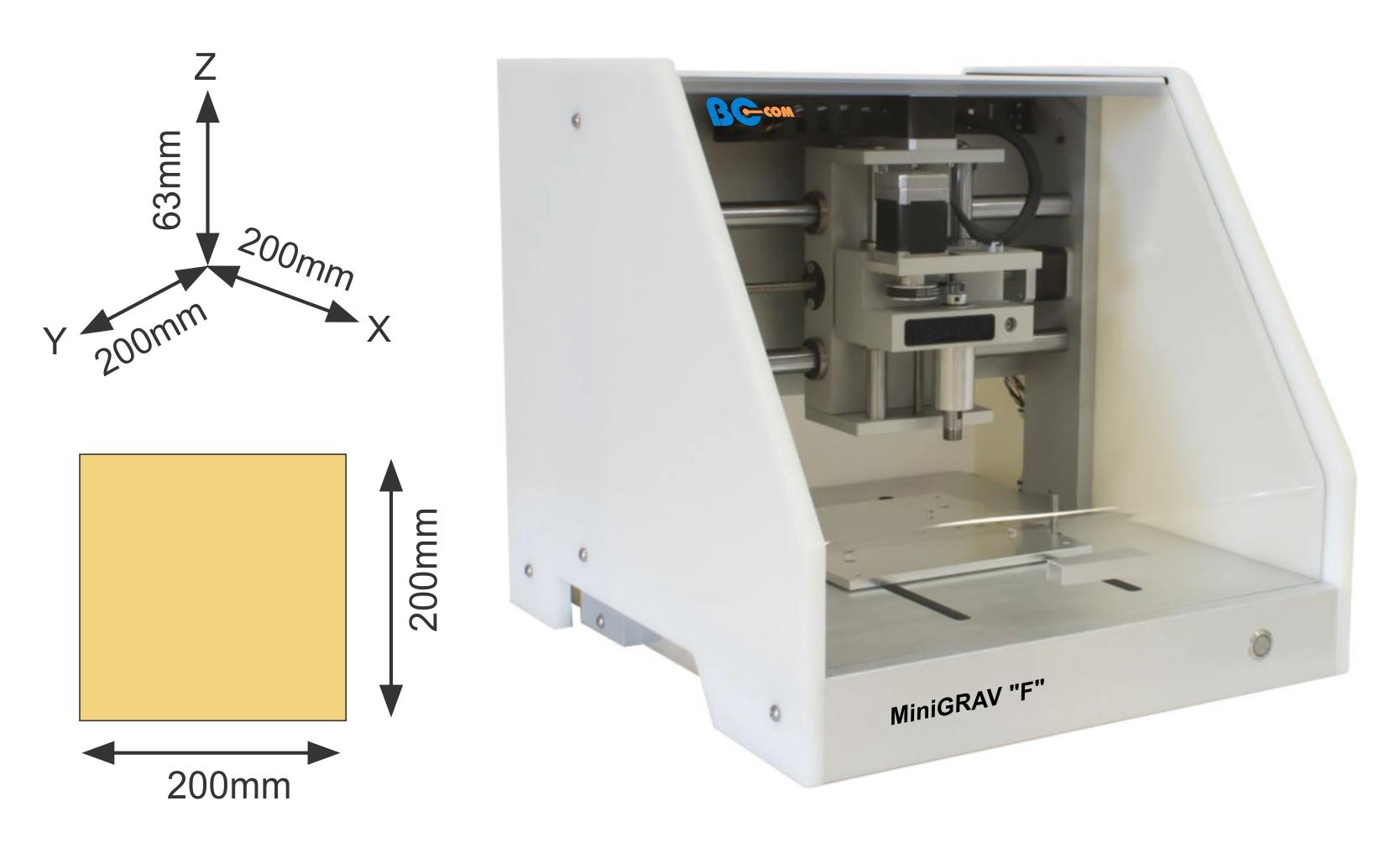 Machine de gravure de plaques par fraisage